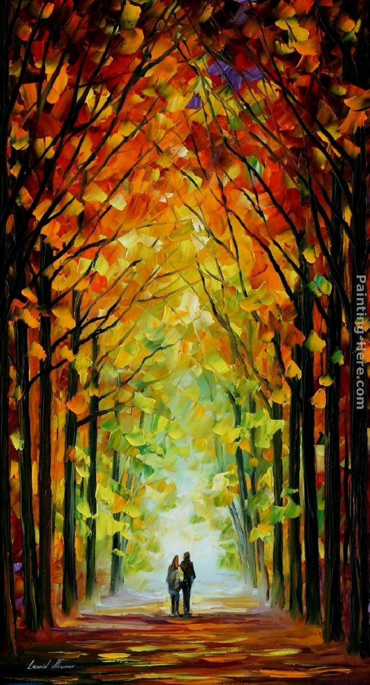 Leonid Afremov ALTAR OF TREES