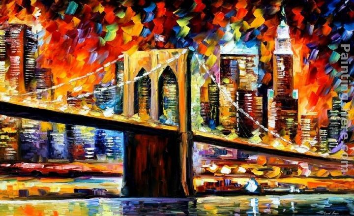 Leonid Afremov BROOKLYN BRIDGE