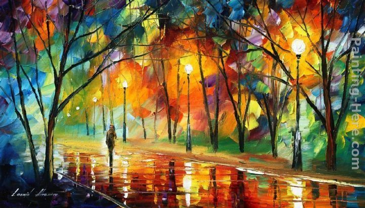 Leonid Afremov EVENING IN THE PARK