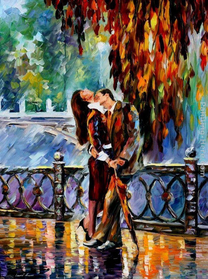 Leonid Afremov KISS AFTER THE RAIN