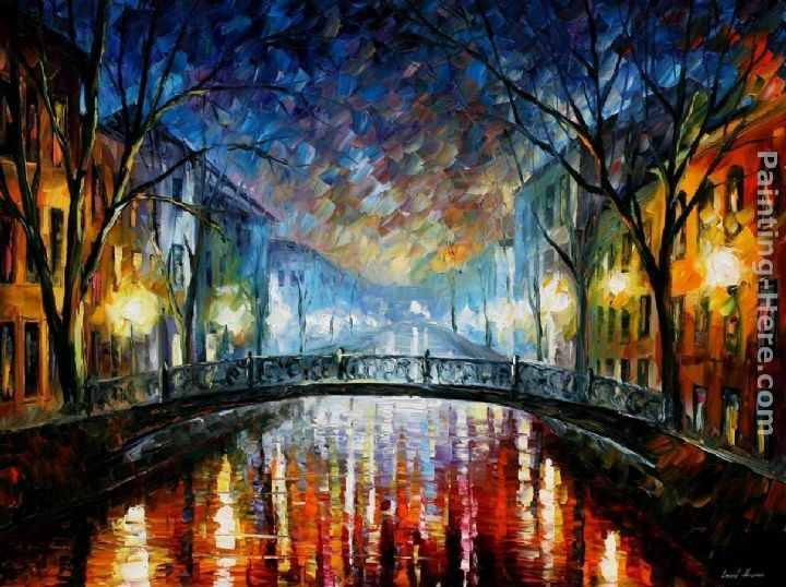 Leonid Afremov MISTY BRIDGE ST. PETERSBURG