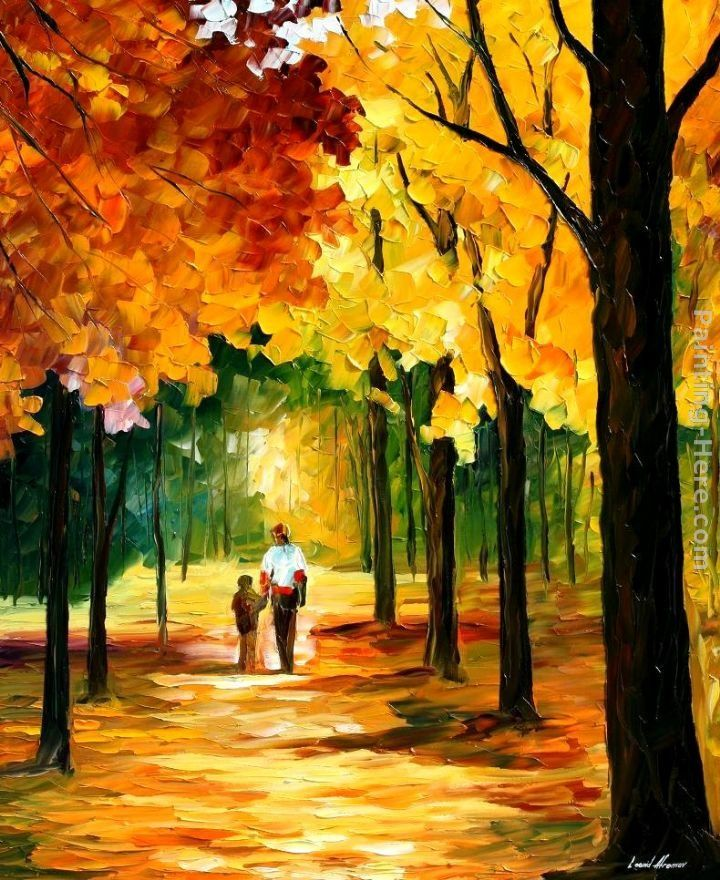 Leonid Afremov STROLL IN THE FOREST