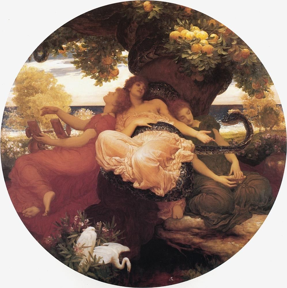 Lord Frederick Leighton The Garden of the Hesperides