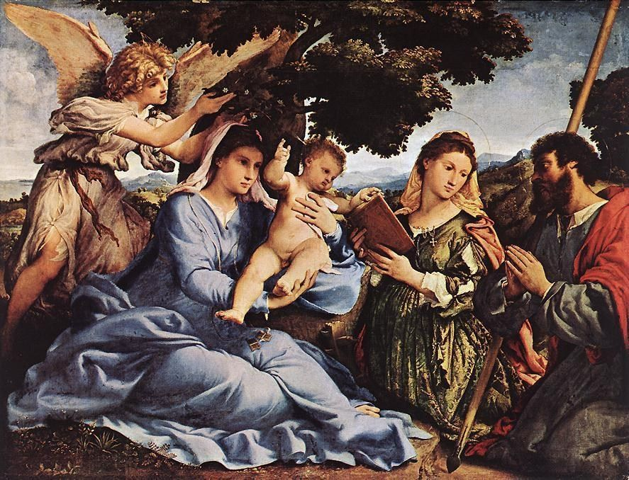 Lorenzo Lotto Madonna and Child with Saints and an Angel
