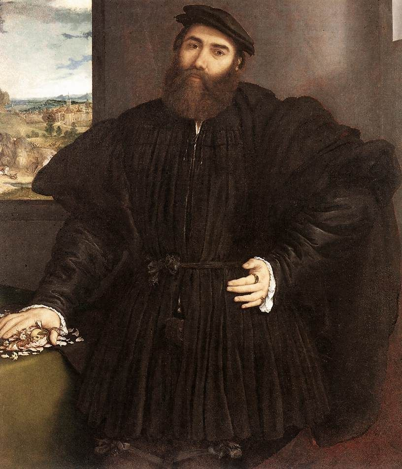 Lorenzo Lotto Portrait of a Gentleman