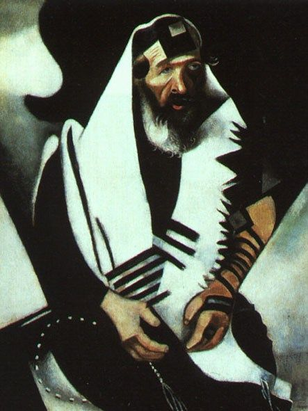 Marc Chagall The Praying Jew Rabbi of Vitebsk
