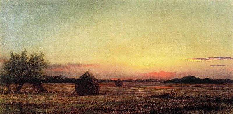 Martin Johnson Heade Jersey Meadows with Ruins of a Haycart