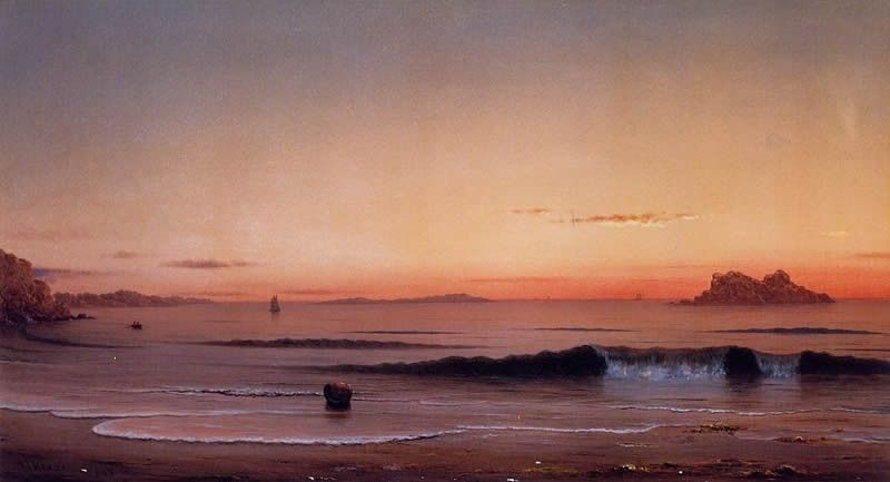 Martin Johnson Heade Twilight, Singing Beach