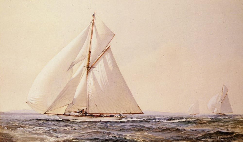 Montague Dawson A Yachting Competition