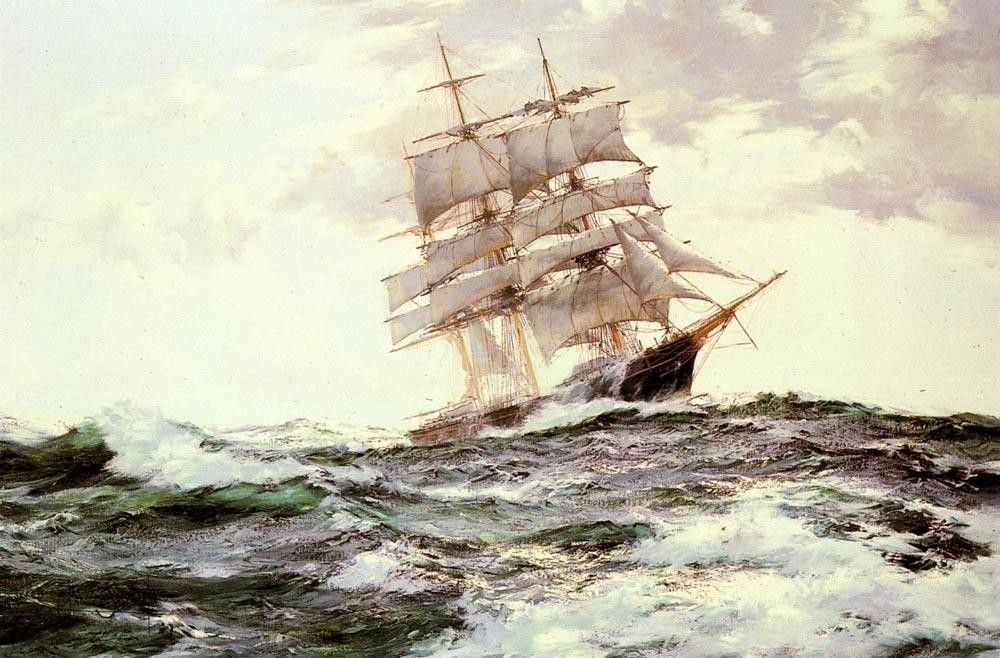 Montague Dawson The New Englander -- The Forest Queen of Boston