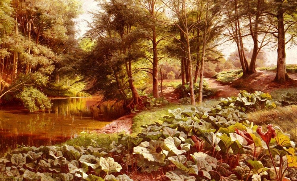 Peder Mork Monsted The Path On The River's Edge