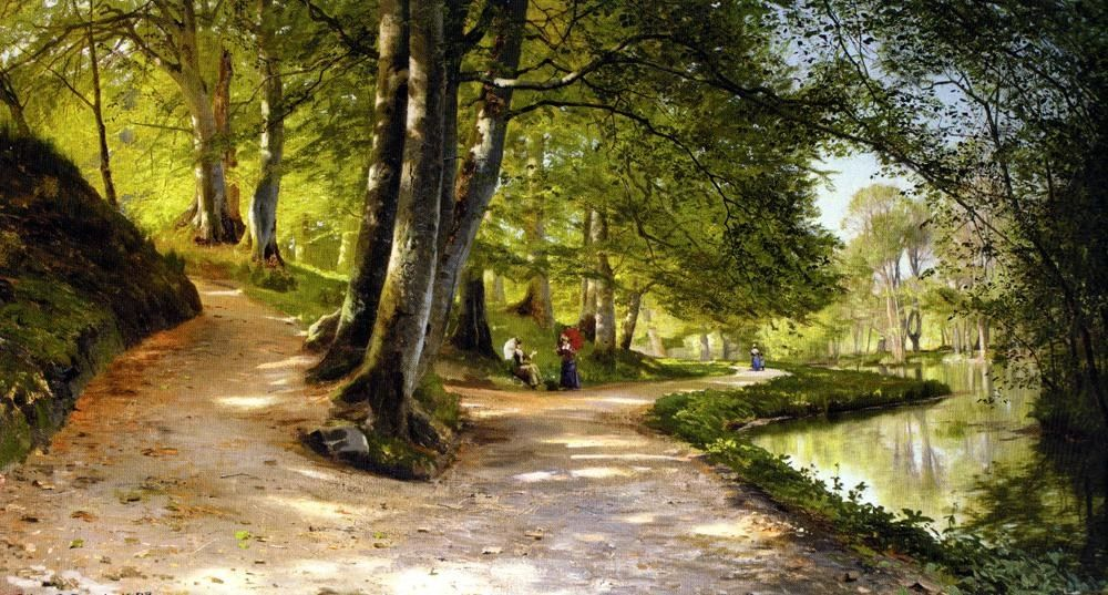Peder Mork Monsted The Red Umbrella