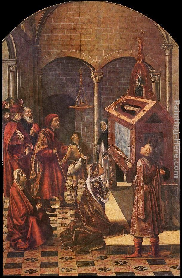 Pedro Berruguete The Tomb of Saint Peter Martyr
