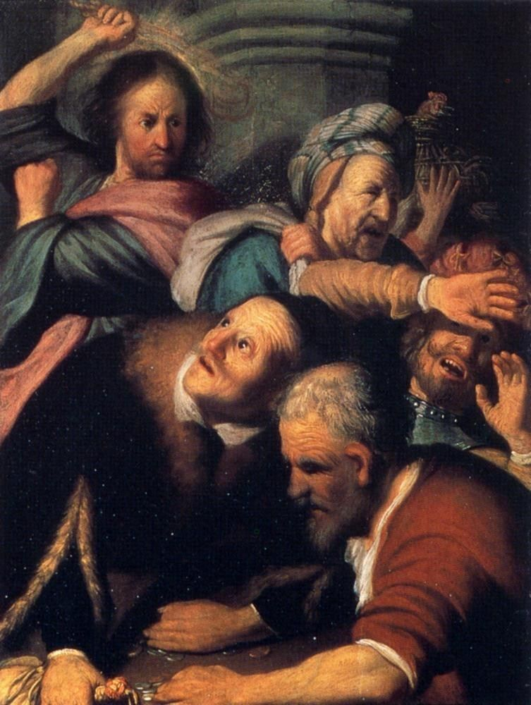 Rembrandt Christ Driving The Money Changers From The Temple