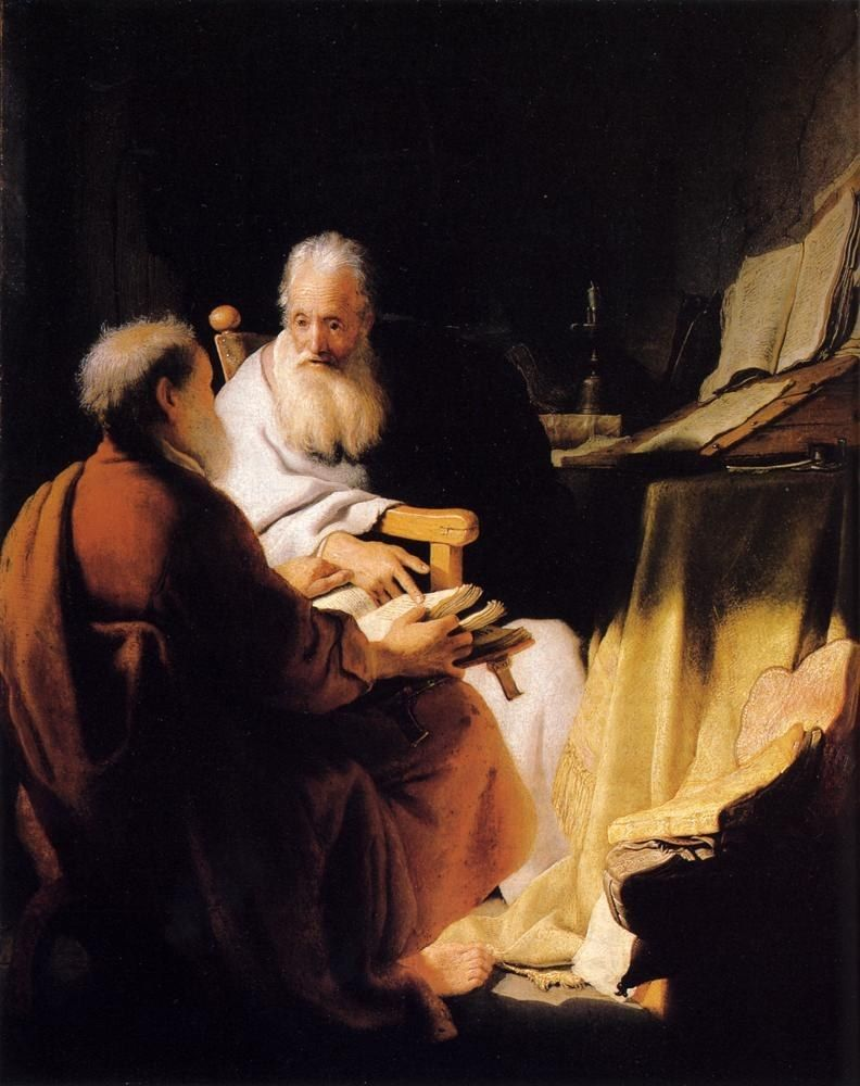 Rembrandt Two Old Men Disputing