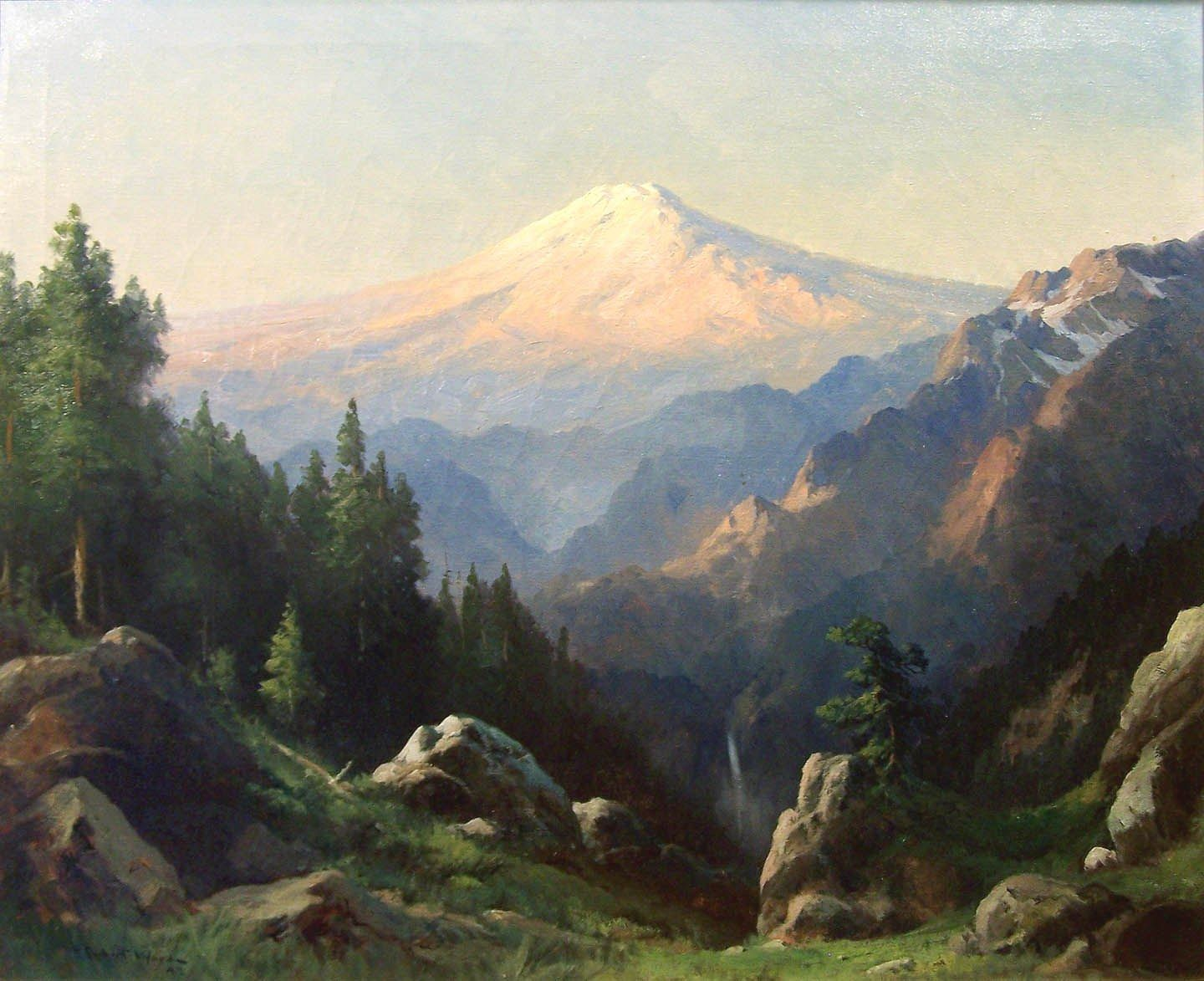 Robert Wood Mt. Ranier at Sunset