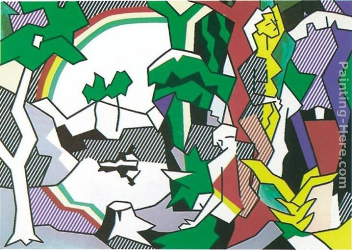 Roy Lichtenstein Landscape with Figures, 1980