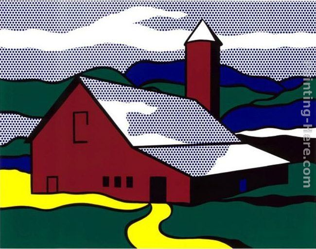 Roy Lichtenstein Red Barn II, 1969