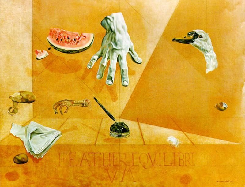 Salvador Dali Feather Equilibrium