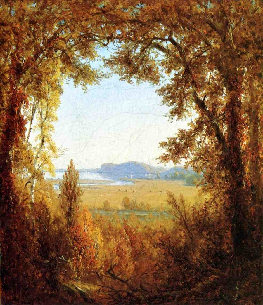 Sanford Robinson Gifford Hook Mountain on the Hudson River