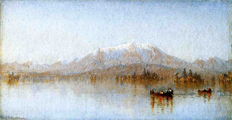 Sanford Robinson Gifford Mount Katahdin from Lake Millinocket