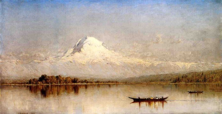 Sanford Robinson Gifford Mount Rainier, Bay of Tacoma, Puget Sound