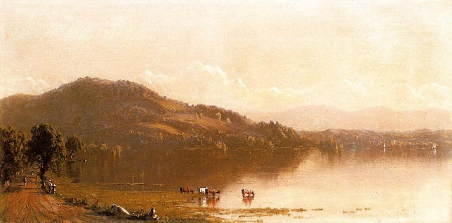 Sanford Robinson Gifford Mt. Merino on the Hudson near Olana