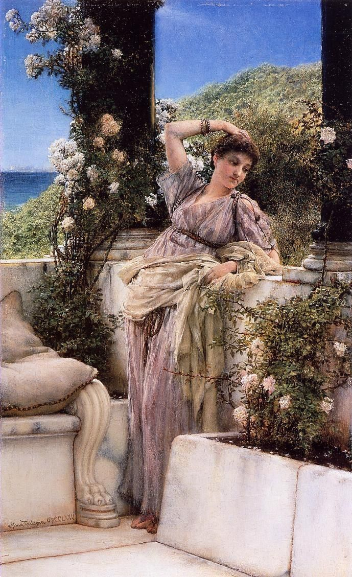Sir Lawrence Alma-Tadema Thou Rose of all the Roses