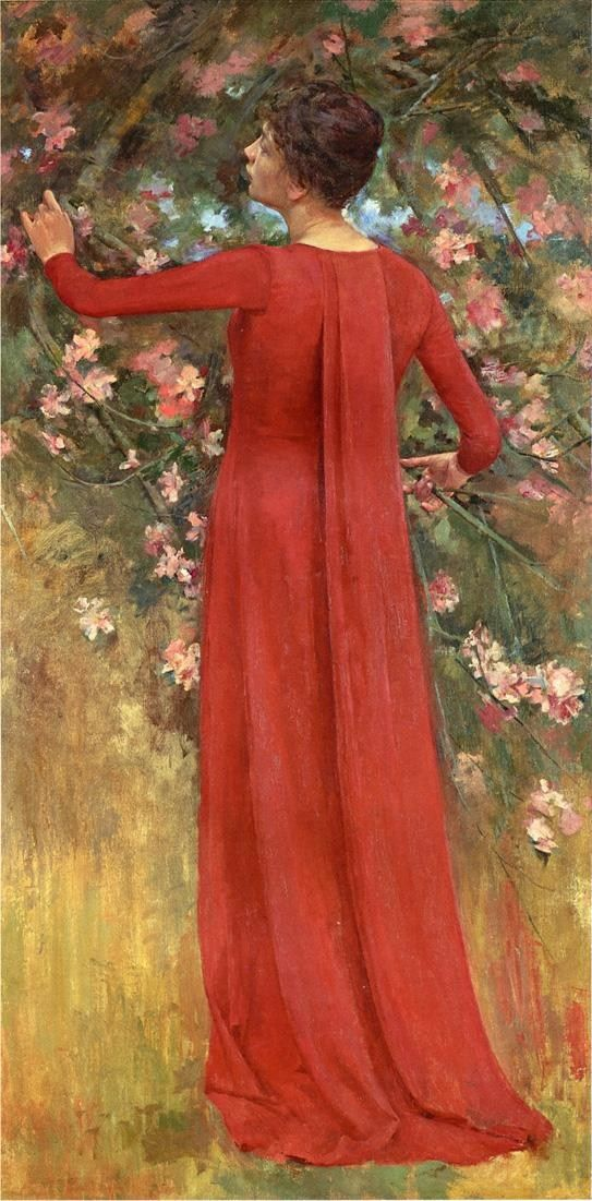 Theodore Robinson The Red Gown