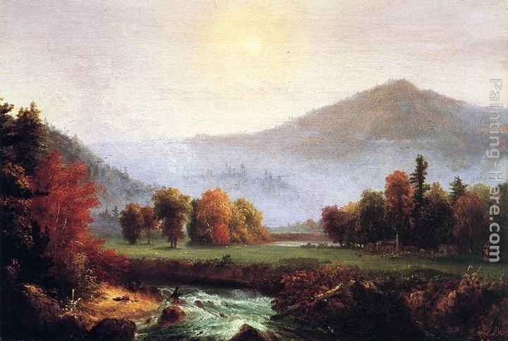 Thomas Cole Morning Mist Rising, Plymouth, New Hampshire