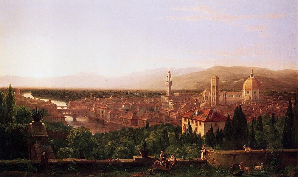 Thomas Cole View of Florence from San Miniato