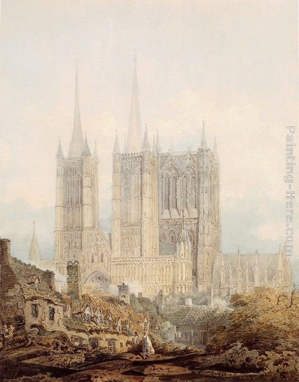Thomas Girtin Lincoln Cathedral from the West