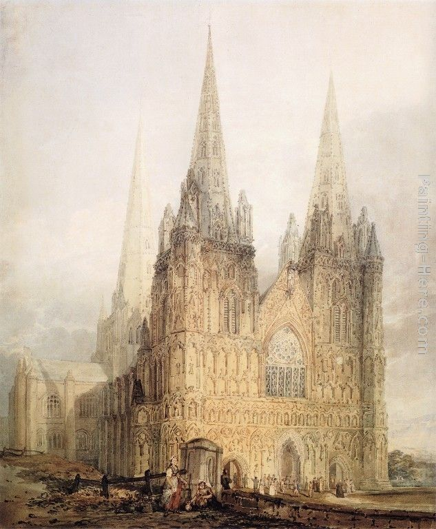 Thomas Girtin The West Front of Lichfield Cathedral