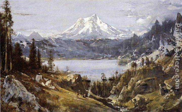 Thomas Hill Mount Shasta from Castle Lake