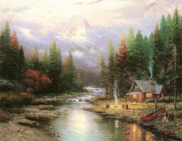 Thomas Kinkade End Of A Perfect Day II