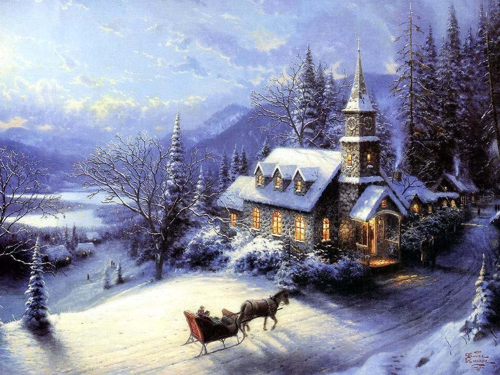 Thomas Kinkade Home For Christmas