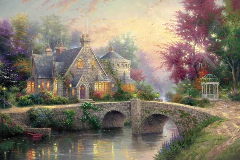 Thomas Kinkade Lamplight Manor