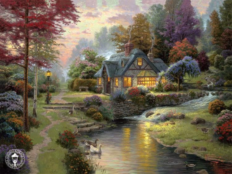 Thomas Kinkade Stillwater Cottage