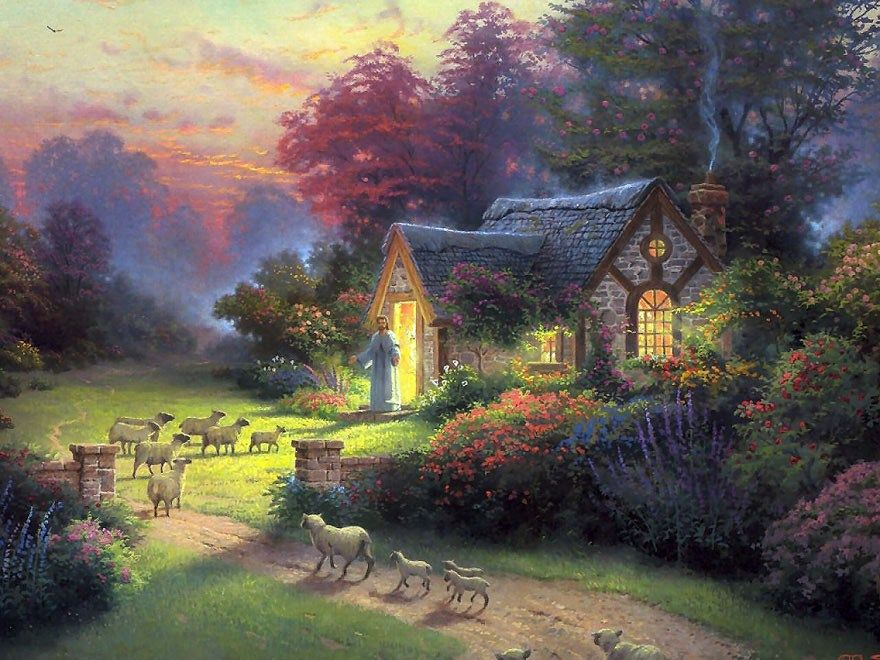 Thomas Kinkade The Good Shepherd's Cottage