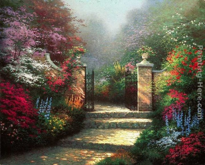 Thomas Kinkade The Victorian Garden