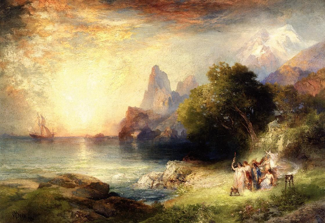 Thomas Moran Ulysses and the Sirens