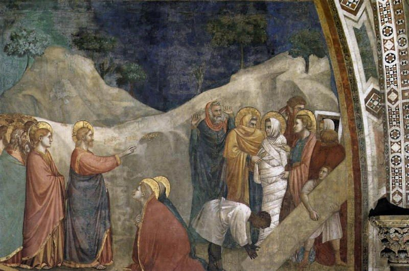 Unknown Life of Mary Magdalene Raising of Lazarus By Giotto di Bondone