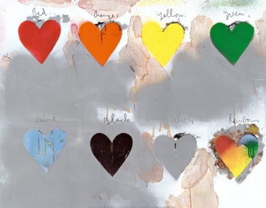 Unknown Jim Dine Hearts