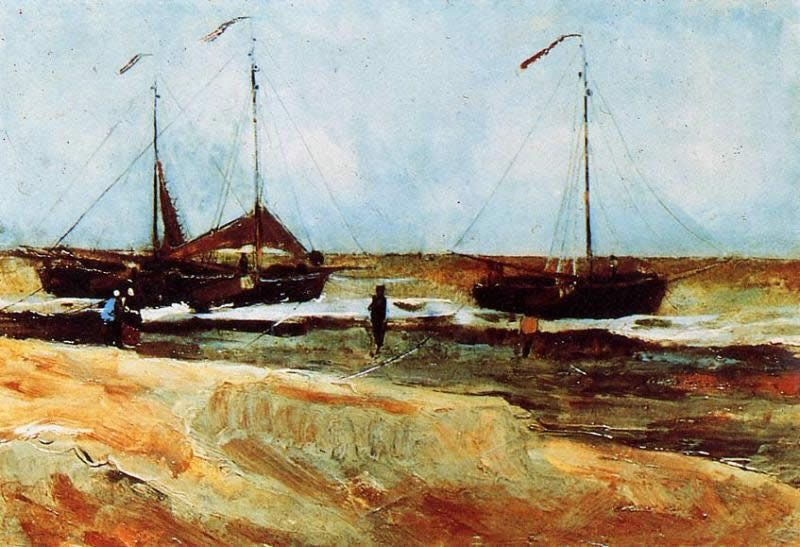 Vincent van Gogh Beach at Scheveningen in Calm Weather