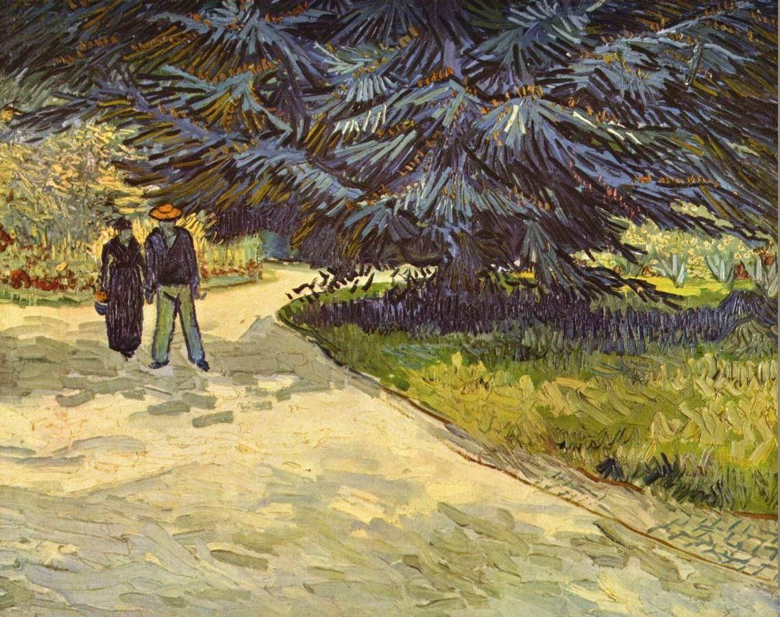 Vincent van Gogh Couple in the Park,Arles
