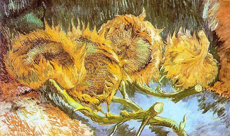 Vincent van Gogh Four Cut Sunflowers