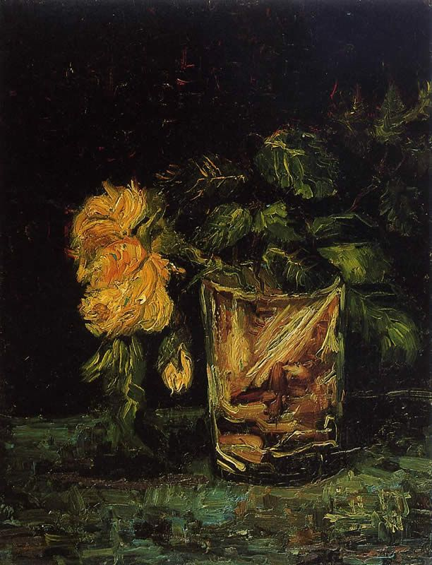 Vincent van Gogh Glass with Roses