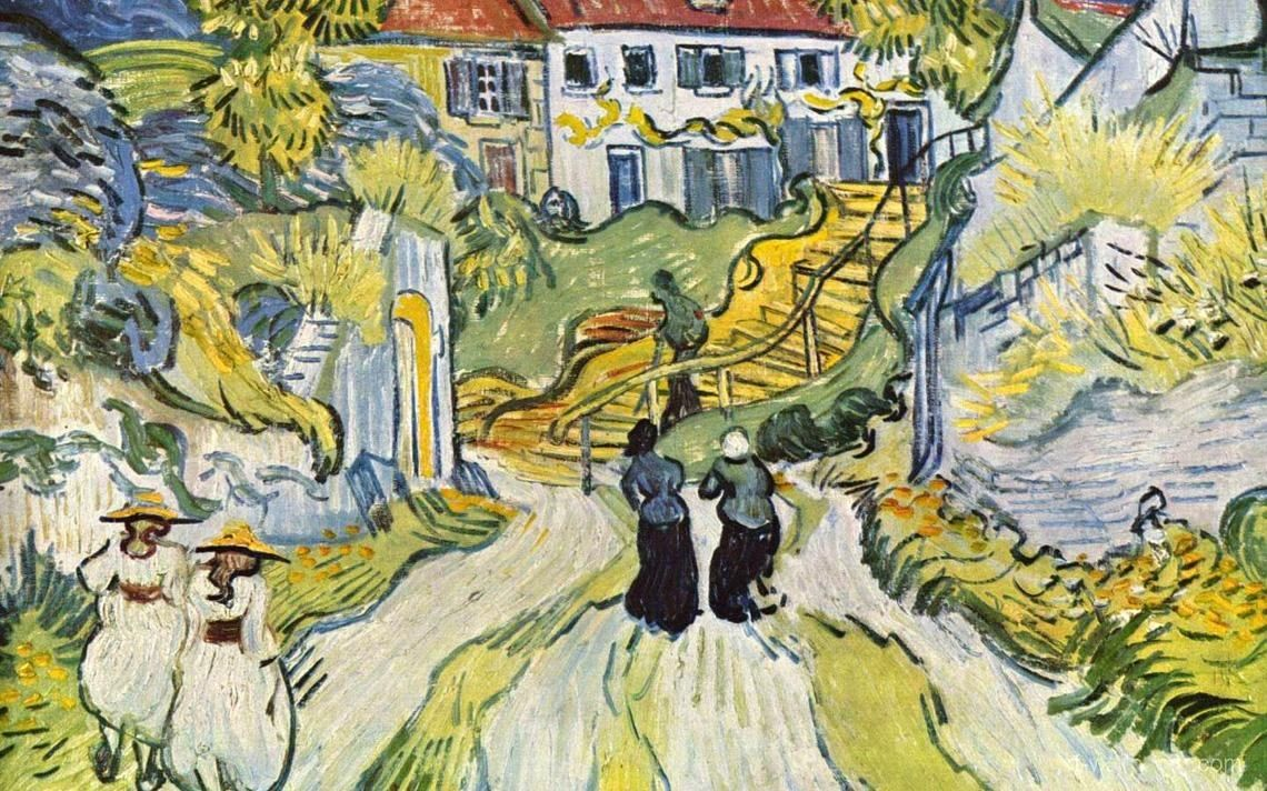 Vincent van Gogh Stairway at Auvers