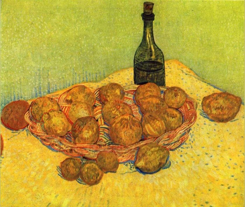 Vincent van Gogh Still life with a bottle of lemons and oranges