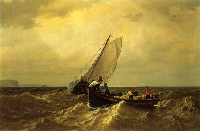 William Bradford Fishing Boats on the Bay of Fundy
